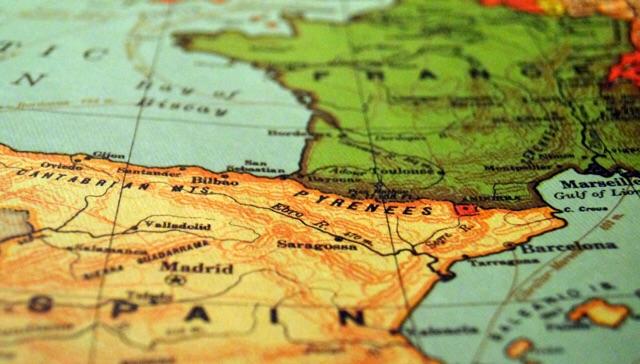 スペインの地図『太陽と月の大地』